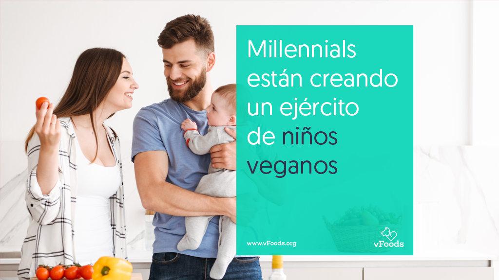 Millennials y niños veganos